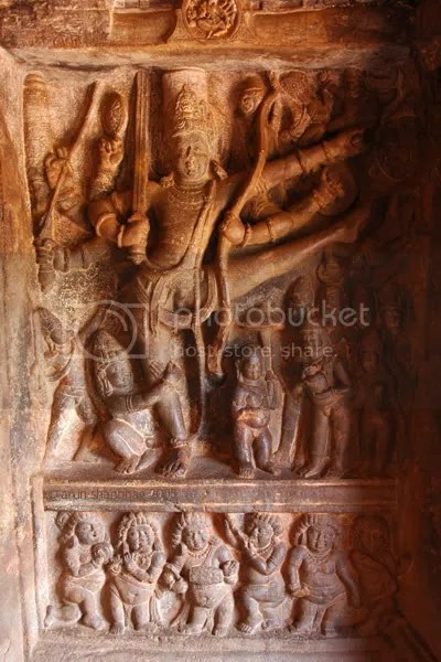 Vishnu as Trivikrama, Cave Temples of Badami