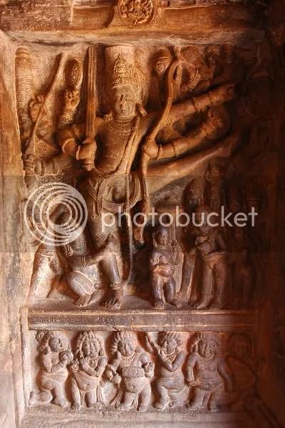 Vishnu as Trivikrama, Cave Temples of Badami