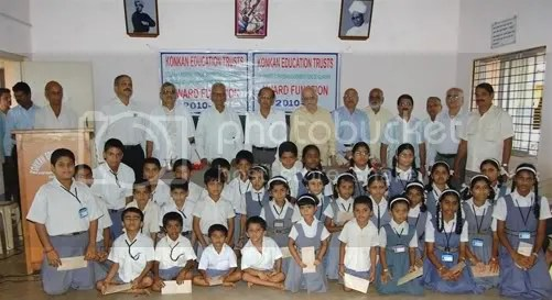 Arun Shanbhag Needy students awarded Scholarships  at Shanbhag High School Kumta