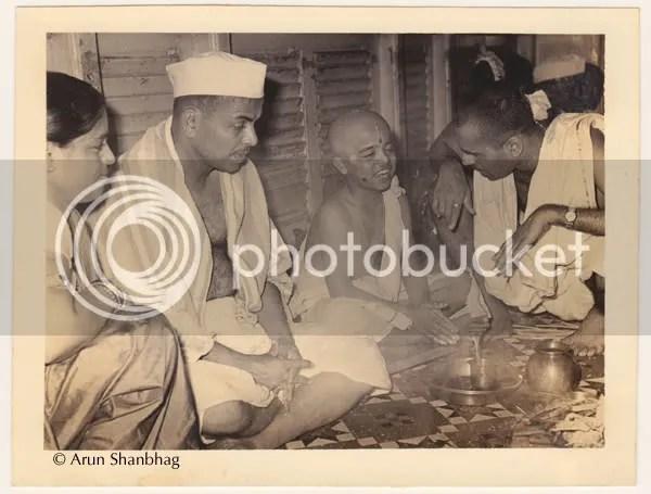 sacred hindu thread ceremony of Arun Shanbhag