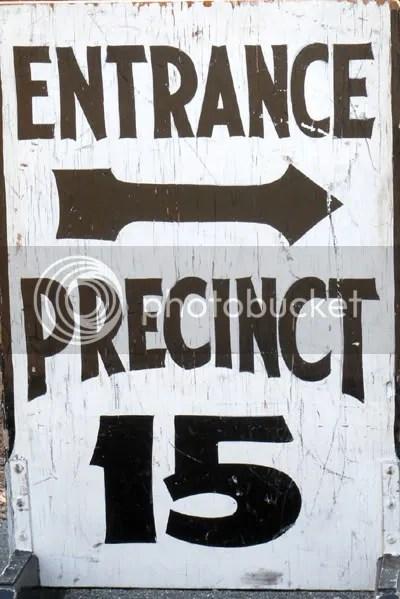 polling precinct in Arlington MA