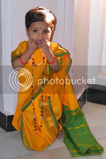 Meera in a saree