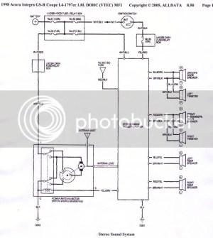 acura integra 98 car audio diagram  HondaTech  Honda