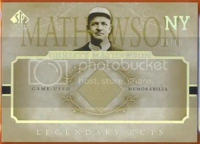 Christy Mathewsons Relic Cards Have Increased 283 In Price