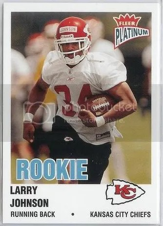 Card Of The Day Larry Johnson 2003 Fleer Platinum Rc 243 Sports