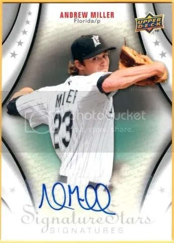 Card of the Day: Andrew Miller 2009 Upper Deck Signature Stars Auto