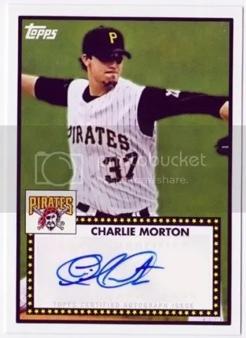 Card of the Day: Charlie Morton 2011 Topps Lineage 1952 Auto