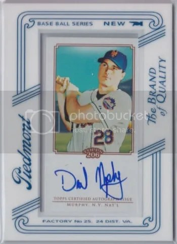 Card of the Day: Daniel Murphy 2010 Topps T-206 Auto