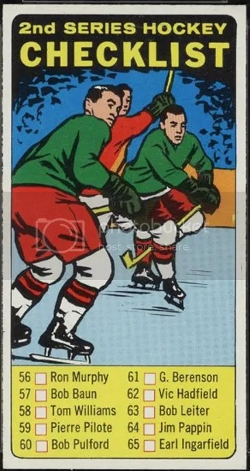 Card of the Day: 1964 Topps Hockey 2nd Series Checklist #55