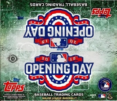 2015 Topps Opening Day Baseball Box Break & Review