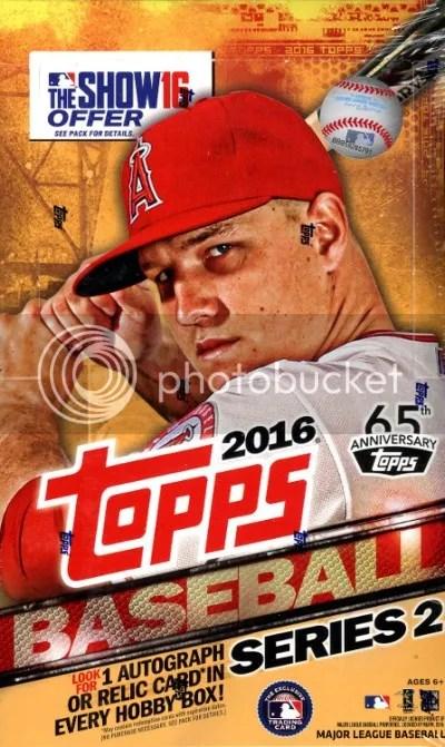 2016 Topps Series 2 Baseball Box Break & Review