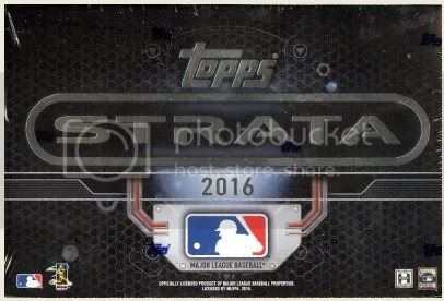 2016 Topps Strata Baseball Box Break & Review