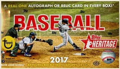 2017 Topps Heritage Baseball Box Break & Review