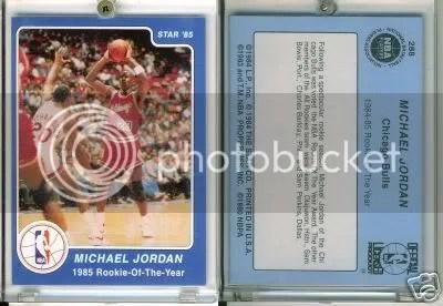 Michael Jordan 1984-1985 Star Co. ROY #288 Counterfeits