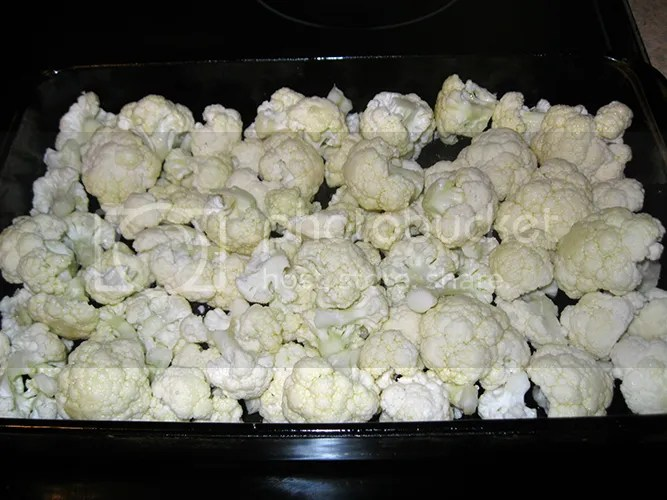 Cauliflower before roasting