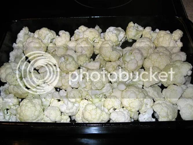 Cauliflower before roasting