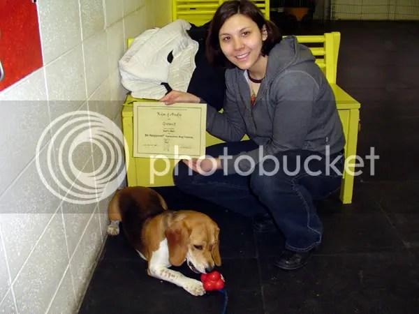 His puppy diploma