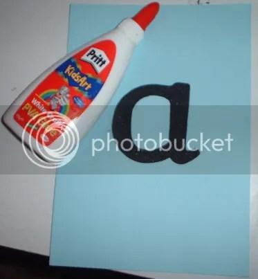 Glued letter