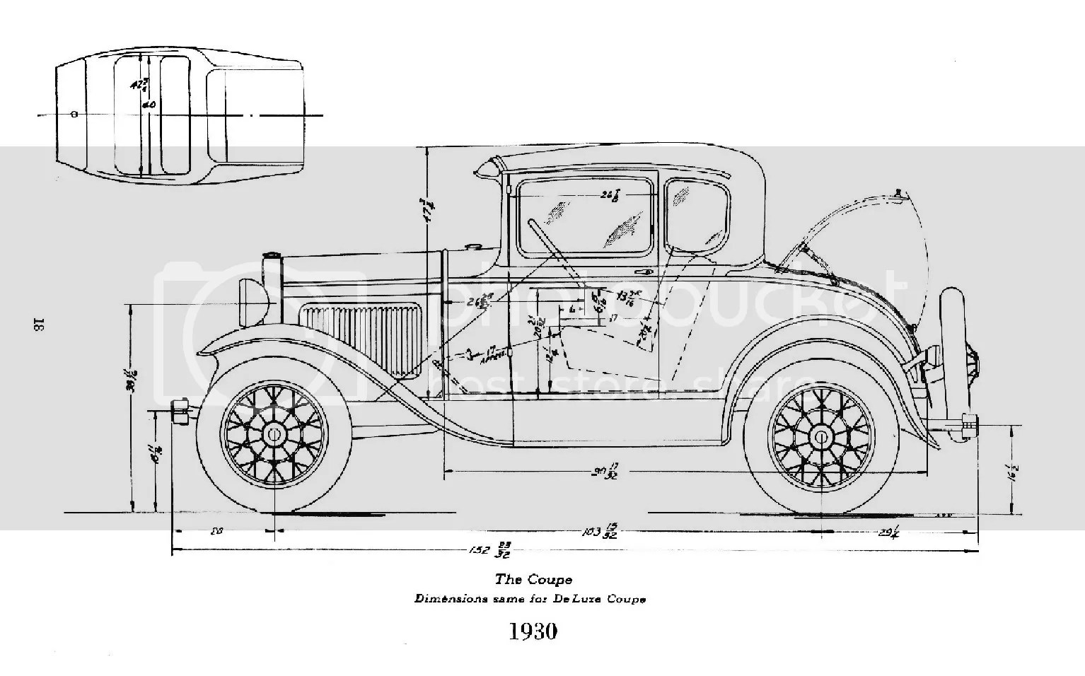 Acad Drawing Of 31 Model A Body And Deuce Frame