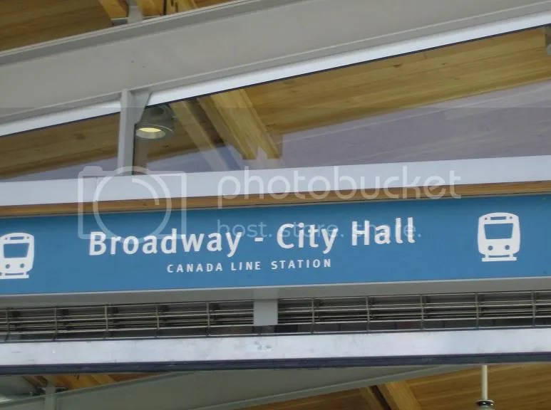 Broadway-City Hall Canada Line station