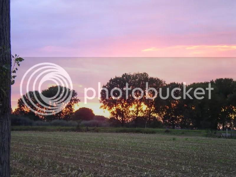 riding through belgium. sunset
