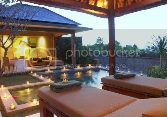 spa pavillion & living area