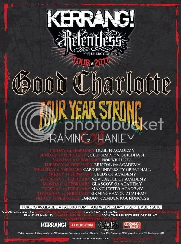 Kerrang! tour 2011 lineup
