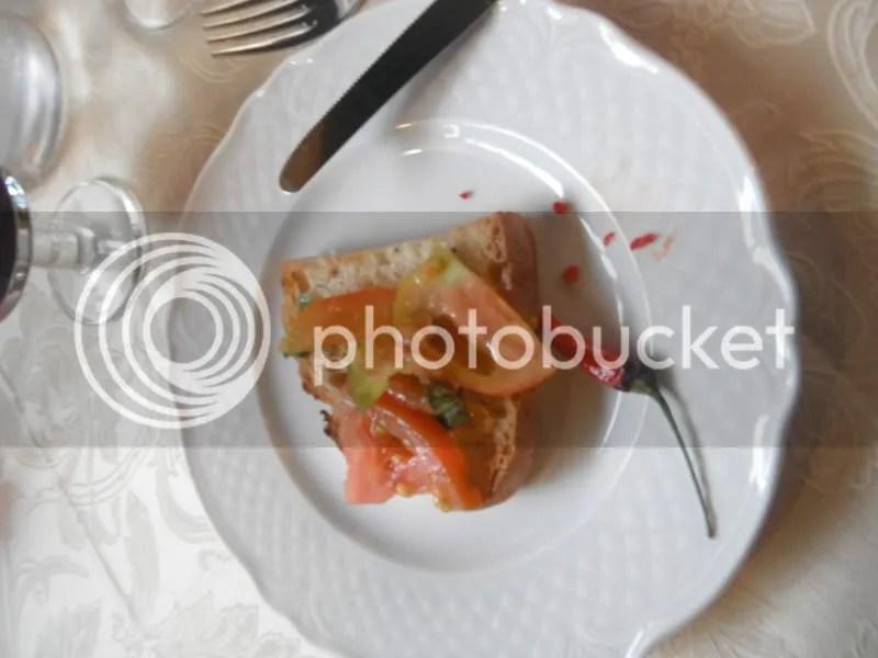 Bruschetta al Pomodoro and fresh chiles