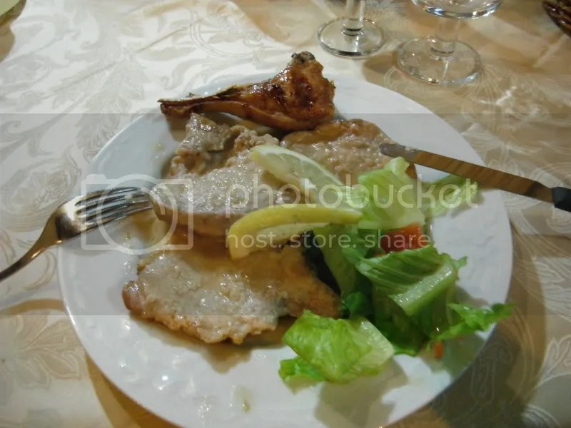 Secondi: Scalloppine al Limone