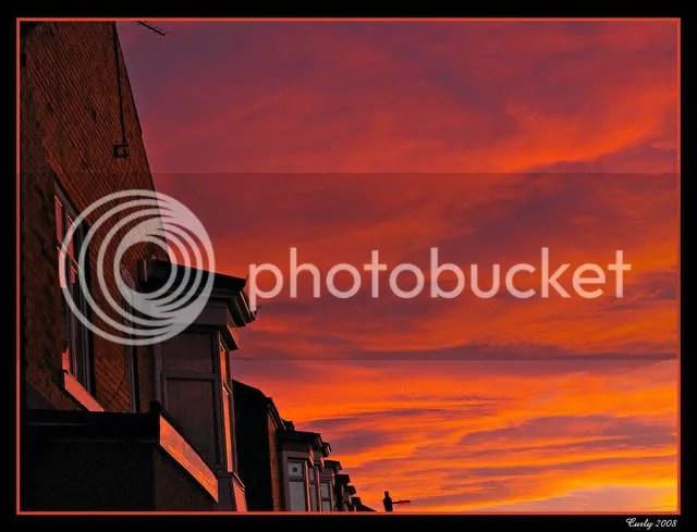 sunset near West Park, South Shields
