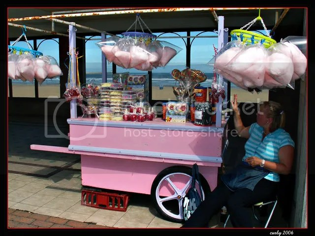 picure, candy floss stall, promenade, South Shields