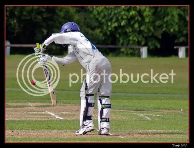 Cricket at Whitburn near South Shields