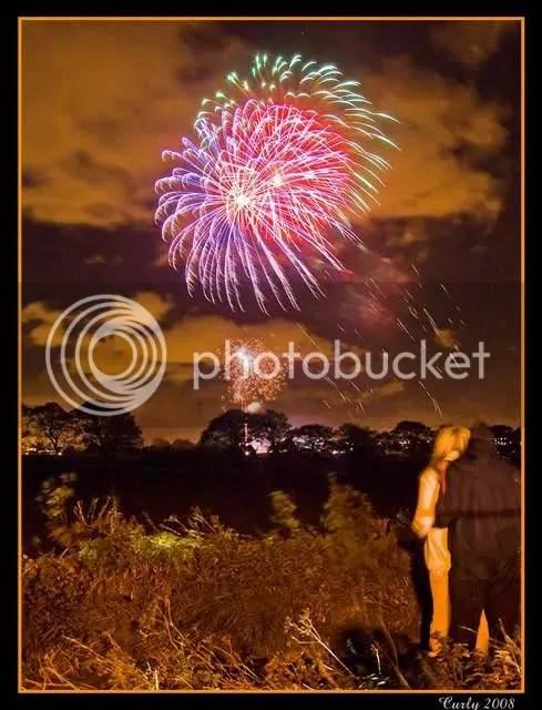 Firework display, South Shields