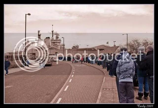 HMS Ark Royal on the River Tyne
