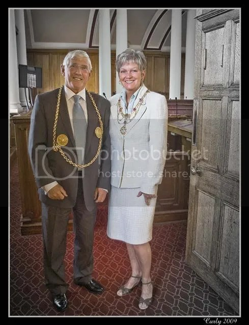 Mayor and Mayoress of South Tyneside, Cllr. John and Mrs. Chris Anglin