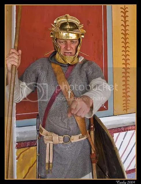 Roman soldier, Arbeia Roman fort, South Shields
