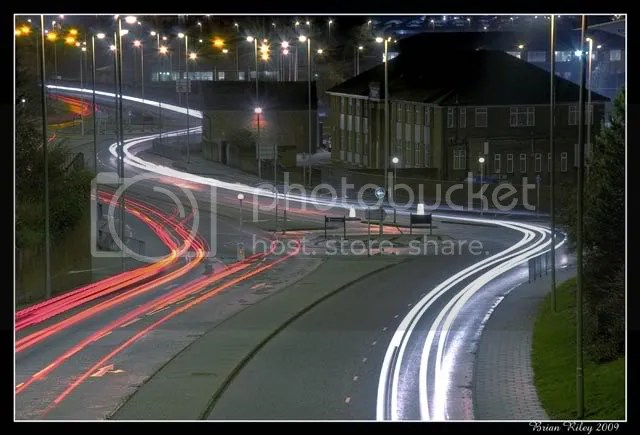 light trails, South Shields