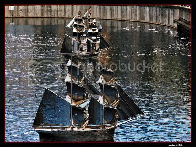 picture of stainless steel ship in Market Dock, South Shields