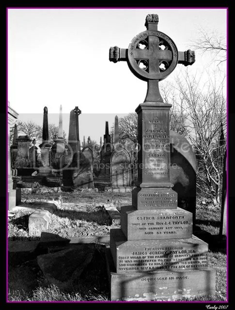 Grave of Revd. James Jeremy Taylor, Westoe Cemetary, South Shields.