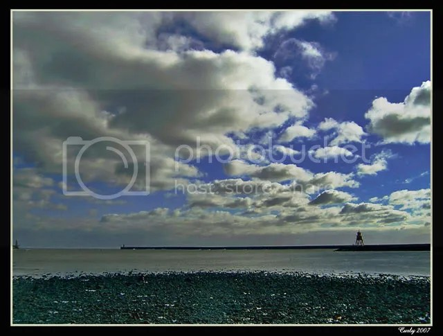 South Shields harbour and Groyne Pier