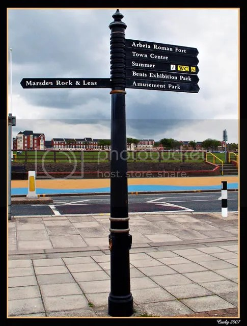 signpost in south shields