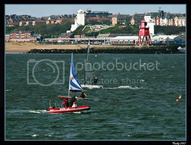 Small yachts in South Shields harbour