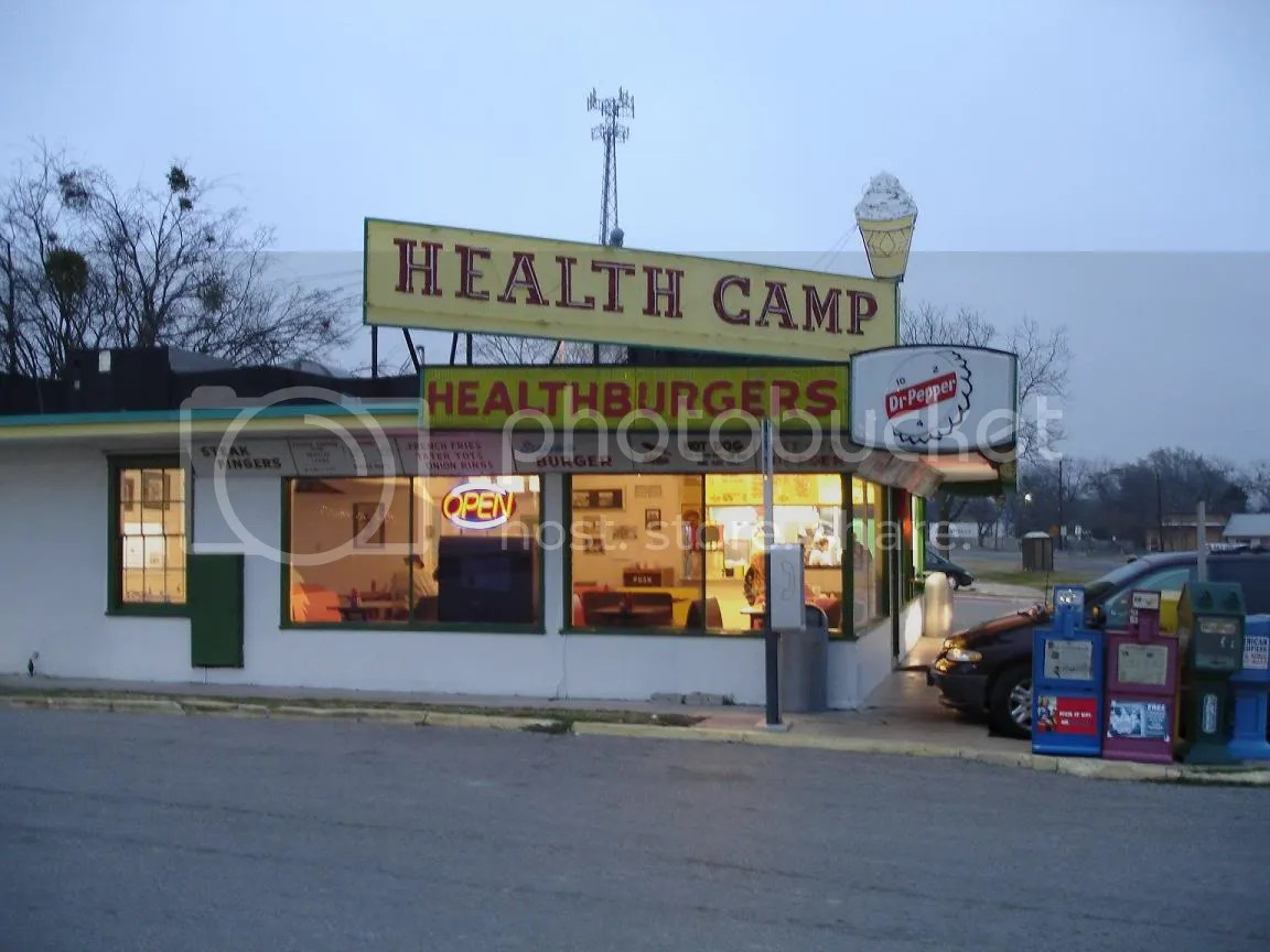 Health Camp Diner, Waco, Texas - Elvis tour (photo from TexasBurgerGuy.com)