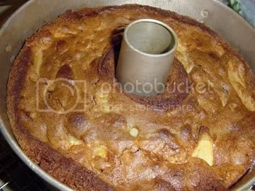 apple cake in the pan