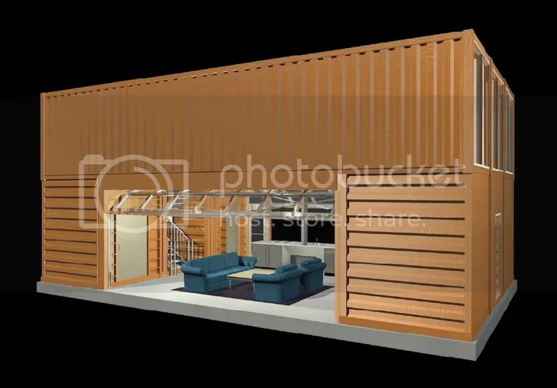 a house designed using shipping container modules