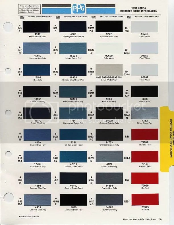 2001 Honda Civic Factory Colors Coloringsite Co Rh Coloringsite Co Honda  Color Chart Car Colors 2013