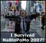 I survived NaBloPoMo! Image of Hiro from the television show Heroes. Yattah!!