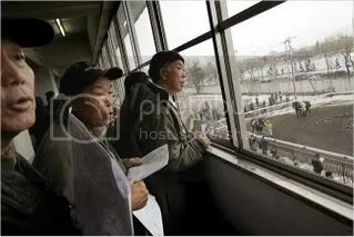 These days, the track's regular customers are aging. It draws mostly old men placing small bets.