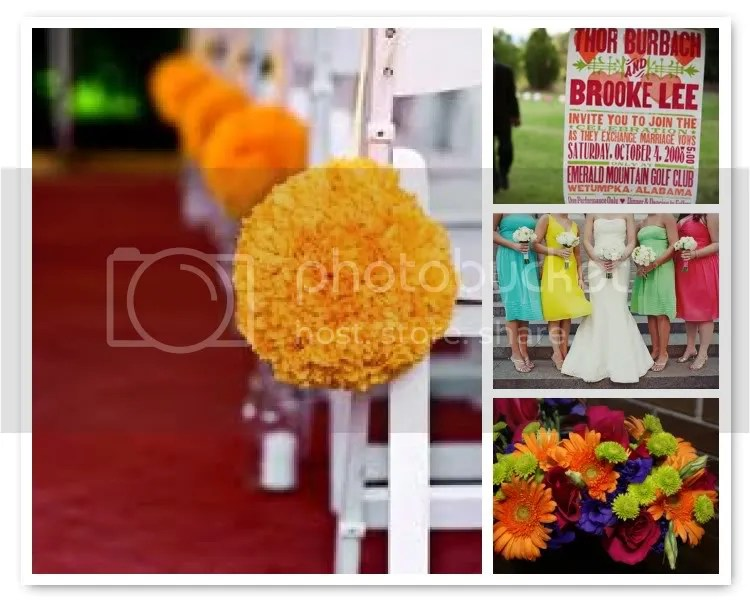 Bold and Spicy Wedding Theme