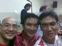 With World Youth Day friends Kuya Rene and Giles. Image hosted by Photobucket.com